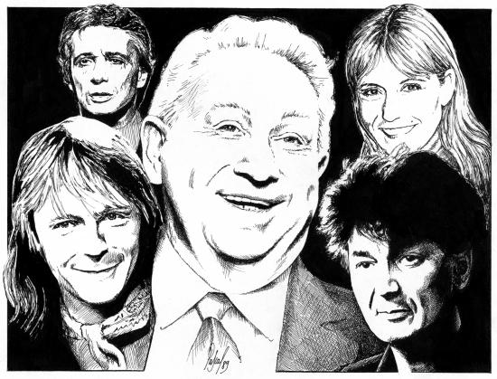 Jacques Higelin, Renaud, Michel Sardou, Dorothée, Charles Trenet par Pastis